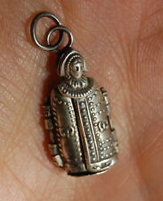 ANTIQUE GERMAN SILVER IRON MAIDEN TORTURE DEVICE Nuremberg CHARM ~ Opens