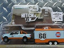 Greenlight Hitch & Tow 2015 Ford F-150 Gulf  Truck Trailer 1:64 Diecast Series 7