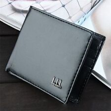 Men's Black Business Leather Wallet Pocket Card Holder Clutch Bifold Slim Purse