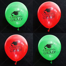 8x quality green red GRADUATION latex balloon party celebration decoration