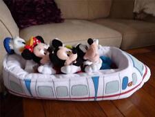 Super Rare Disneyland Monorail Plush Toy Mickey Mouse, Minnie, Goofy & Donald