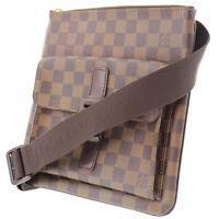LOUIS VUITTON Pochette Melville Shoulder Bag Brown Damier N51127 Auth #HH313 Y