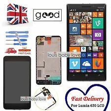 For Nokia Lumia 630 635 LCD Display Touch Screen Digitizer Assembly Frame Black