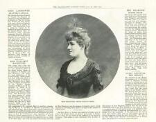 1888-Italia Royal cantante de ópera Miss MacIntyre (308A)