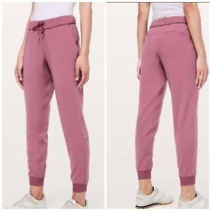Lululemon On The Fly Joggers Women's Pants Misty Merlot Size 2