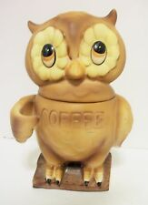 Vtg Owl Coffee Canister Japan Josef Originals Good Cork Ring Lorrie Sticker