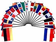 "Northwest Europe World Desk Flag SET-20 Polyester 4""x6"" Flags"