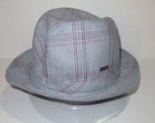 New Kangol Mens Heritage Check Player Fedora Cap Hat Large 4770c53a8de