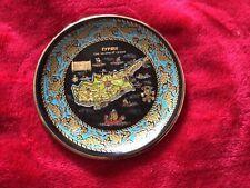 black cyprus 24k gold decorative small plate