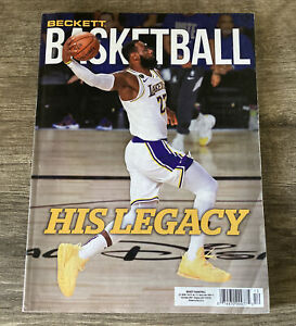 December 2020 Beckett Basketball Card Price Guide Magazine Lebron L.A Lakers