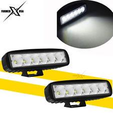 "2x 6"" Super Slim Single Row 18W LED Work Light Bar FLOOD Beam Driving Mini Lamp"