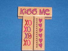 Kollette Hall Valentine Rubber Stamp Xoxo Hearts Kiss Me