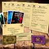 Harry Potter Personalizado Aceptación Carta Hogwarts & Expreso Train Ticket