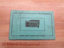 Red Lion Controls IMD1/1M-K Manual For Model IMD1 Apollo Meter - Used