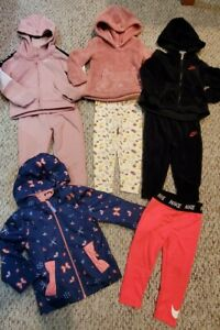 Girls 2T fall outfit lot Nike DKNY jogger set Raincoat cute excellent condition