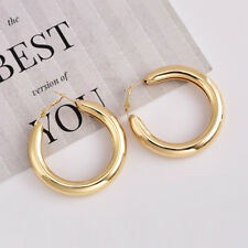 2018 Women Statement Gold Silver Earrings Circle Geometric Metal Hook Earrings