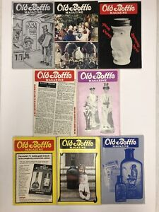 Vintage Old Bottle Magazine - Jan - Aug 1982 - Lot of 8 - FREE SHIP - Insulators