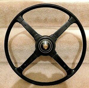 "Orig 1950's Jaguar XK 4 Spoke Steering Wheel w Center Logo 17"" D from 1957 XK150"
