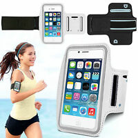 Sports Running Jogging Gym Armband Waterproof Case Cover for iPhone 4, 4s White