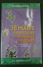 38 Huiles Essentielles Book by Frances Elliott with flash cards in French New