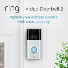Ring Doorbell 2 HD Video (2-Way Talk) Motion Detect Built-in Wi-Fi & Camera NEW!