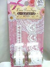 Daiso japan Lace decoration tape white 60cm x 2 japan import