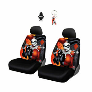 For Chevrolet New DC Comics Harley Quinn Car Seat Covers Keychain Free Gift