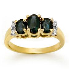 1.33 CTW Blue Sapphire & Diamond Ring 14K Yellow Gold - REF-34Y5K - ... Lot 4697