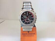 Men Aqua Master Jojo Jojino Joe Rodeo  Steel Metal Band 46mm Diamond Watch W#304
