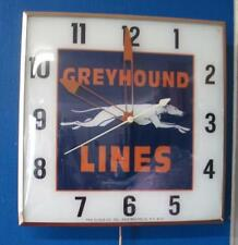 Vintage Pam Lighted Advertising GREYHOUND Clock
