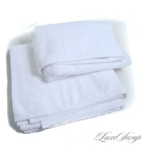 NWOT LOT X2 Frette Made in Turkey Solid White Terrycloth Cotton Bath Towels #10