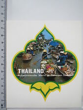 Aufkleber Sticker Decal Thailand Schwimmender Markt Damnoen Saduan (2568)