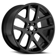 "Replica SRT10 24x10 5x5.5"" +25.4mm Gloss Black Wheel Rim 24"" Inch"