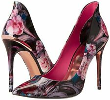 Ted Baker Savenniers Pump Patent Leather Heels Court Shoes Floral Black Size 7