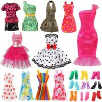 Barb Little Doll Clothes Set Outfits Handmade Party Casual Dresses Shoes Fashion