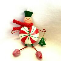 Dad`2008`Pepperment Candy Dad.keepsake.Hallmark Christmas Ornament,New`Free 2 US