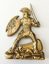 USN NAVY CPO RISE OF THE CHIEF SPARTAN SEALS SWORD CHALLENGE COIN STATUE FIGURE