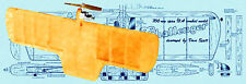 Model Airplane Plans 1/2 A Control Combat Challenger Full Size Printed Plans