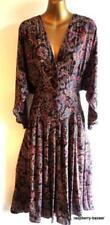 Paisley Long Dresses for Women with Batwing Sleeve