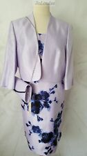 Jacques Vert Dress & Jacket Lilac size 24 Wedding Special Occasion