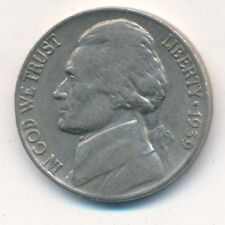 1939 JEFFERSON NICKEL-DOUBLE MONTICELLO-SCARCE VARIETY! LIGHTLY CIRCULATED