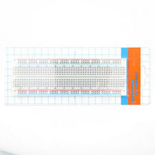 New White MB-102 830 Points Solderless Breadboard PCB Test for Arduino