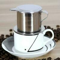 Stainless Steel Vietnamese Coffee Press Maker Cup For Office Single P8D3
