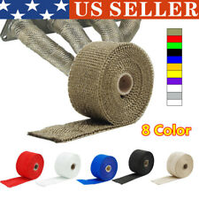 "2"" 80""/2M Roll Black Fiberglass Exhaust Header Pipe Heat Wrap Tape + 5 Ties Kit"