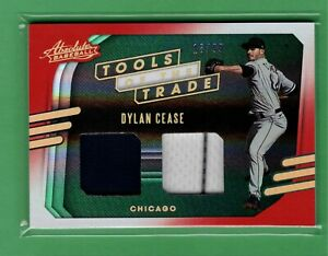 2021 PANINI ABSOLUTE DYLAN CEASE DUAL JERSEY RELIC 18/99 TOOLS TRADE WHITE SOX