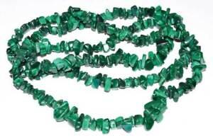 """32"""" Malachite Stone Chips Gemstone Necklace"""