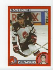 2002-03 Moose Jaw Warriors (WHL) Troy Brouwer **FIRST CARD**