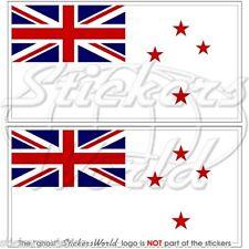 """NUOVA ZELANDA MARINA MILITARE Bandiera Adesivi RNZN 75mm (3"""") Stickers x2"""