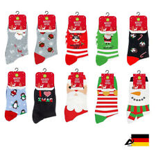 COSY SOCKS DAMEN Nikolaus Santa Weihnachtssocken Socken Elf Pinguin ABAV