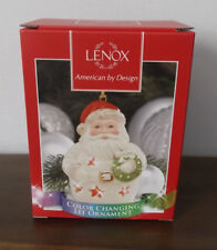Lenox Color Changing Lit Santa Ornament ~ Christmas ~ Msrp $40 ~ New in Box